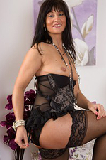 45 Year Old Lelani Tizzie Looking Hot in Her Nylons and Thong