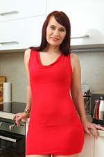 Horny Long Haired Vera Delight Spreads Her Legs Found on the Kitchen Counter