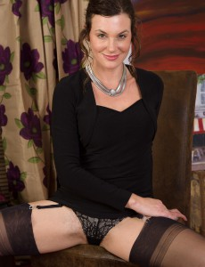 38 Year Old Sofia from Onlyover30 Displaying off Her Ass and Black Pantyhose