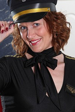 Get Prepared to Fly the Skies with 35 Year Old Redhead Roxanne Clemmens