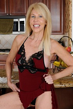 Sexy 60 Year Old Wifey Erica Lauren Getting Stripped in the Kitchen