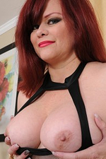 Big-chested Curvaceous Marcy Diamond Likes Her Non-traditional Sheer Black Dress