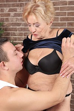 Aged Milf Maya Lambert Takes a Younger Man on for Fun, Sucking and Fucking