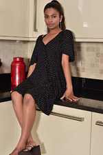 Alluring Alishaaa Mae Exposed in the Kitchen