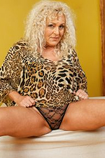 Busty Blonde Mature Sissy