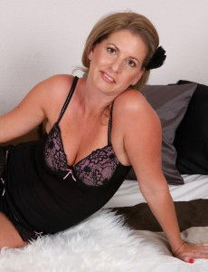 Super Insatiable  Wife Laura G from  Onlyover30  Takes off off Her Ebony Knickers