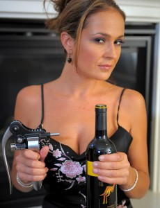Hot 30 Year Old Elexis from  Onlyover30 Liking a Bottle of Wine