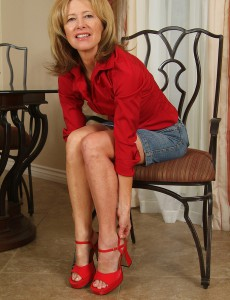 Smokin' Hot 57 Year Old Janet L Positions with Her Soles for the Camera