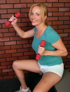 39 Year Old Blond Mummy Katrina Acquires Playful After Her Workout