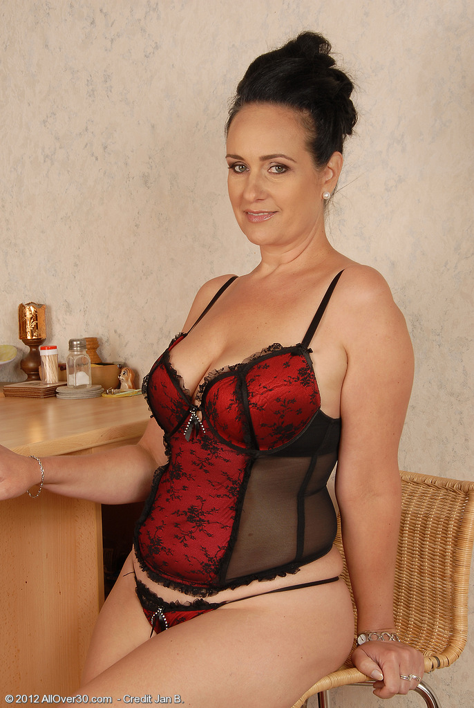 44 Year Old Ria Black from  Onlyover30 Looking Handsome in Her Knickers