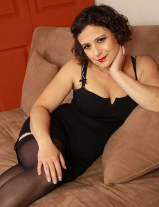 36 Year Old Elegant Anna P from  Onlyover30 Looking Hot in Nylons