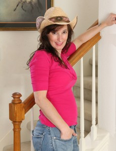 Super Horny 41 Year Old Celeste Carpenter Wearing Just a Cownoy Hat