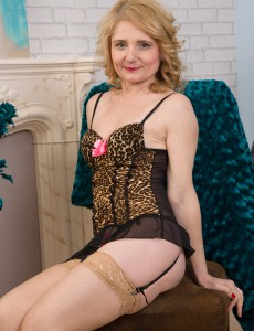 Hot 45 Year Old Isabella B from  Onlyover30 Looking Hot Inwards Her Underware
