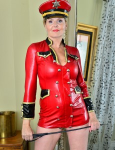 Aged Babe Velvet Skye is All Dressed Up and Willing to Dish out Some Castigation