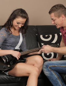 Sexually Excited Guitarist Niki Sweet Sucks Her Instructor's Cock