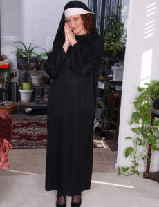 Hot Nun Roxanne Clemmens Has a Great Habit of Erotic Dancing and Jacking