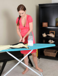 Wonderful Big-boobed Tina Kay Does Some Ironing and then Shows Her Ideal Innate Whoppers