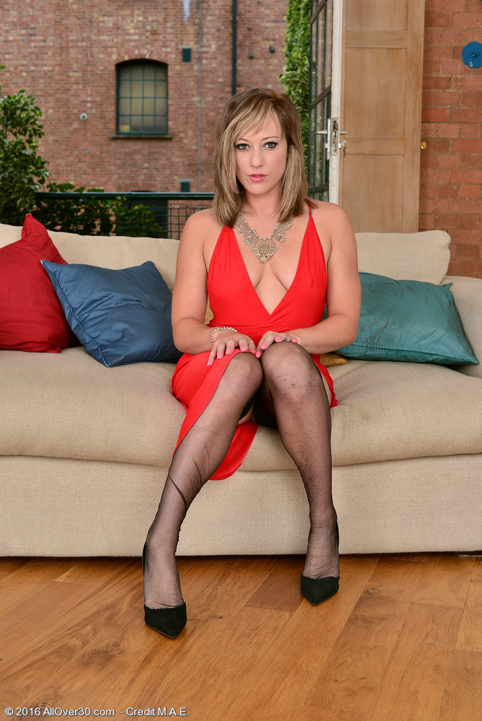 Gorgeous Axajay in a Hawt Red Dress